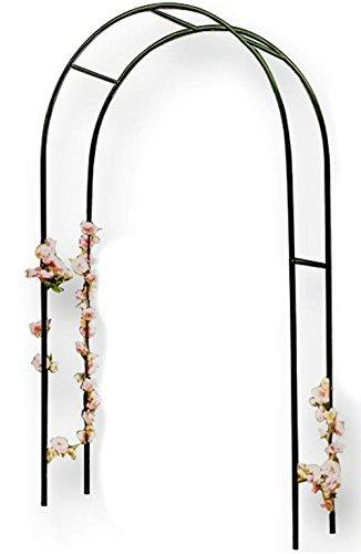 Vetrineinrete® arco per piante rampicanti sostegno supporto per rose edera decorazione arredo giardino in acciaio 240x140 cm a24