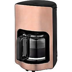 Team Kalorik Cafetière à Filtre avec Capacité 1.8 L, Verseuse en Verre, Jusqu'à 15 Tasses, 1000 W, Cuivre, TKG CM 1220 K