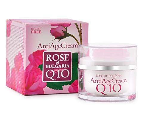 Biofresh Rose of Bulgaria Anti Age Cream Q 10 mit Rosenwasser, Jojobaöl, Vitamin E und Sheabutter 50ml
