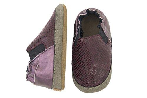 Melton - Krabbelschuhe Mädchen, Scarpine e pantofole primi passi Bimba 0-24 Viola (Violett (Fig782))