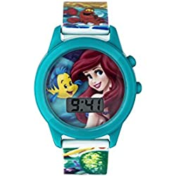 Princess Girl's Digital Watch with Green Dial Digital Display and Green Plastic Strap PN1165