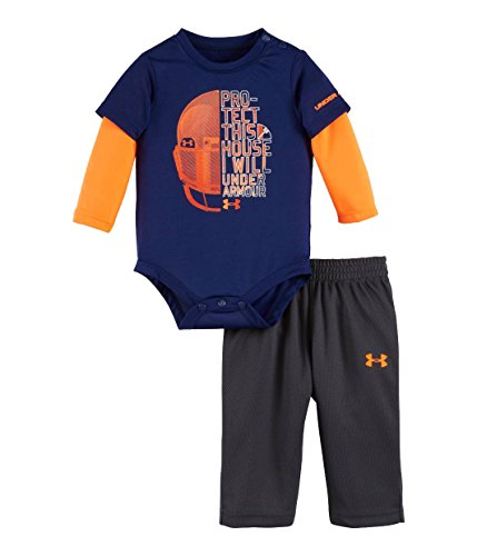 Set di pantaloni e tuta neonato (9/12 mesi, caspian / stealth grey / blaze orange)