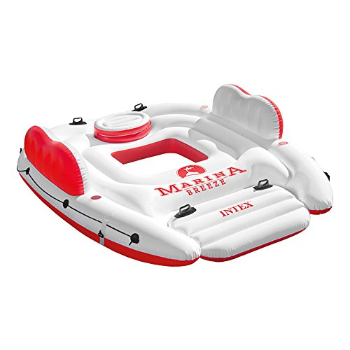 Intex - materassino gonfiabile isola marina breeze, 56296)