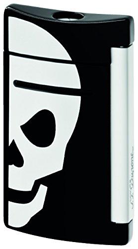 st-dupont-minijet-lighter-white-skull