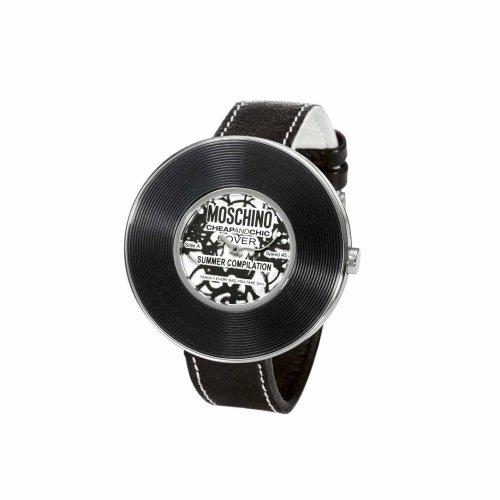 Moschino - MW0010 - Montre Femme - Quartz - Analogique - Bracelet Cuir Noir
