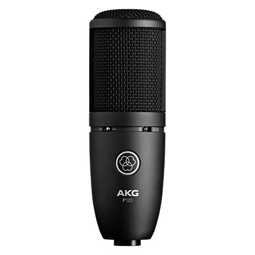 AKG P120 - Microfono da studio statico cardioide, colore Nero