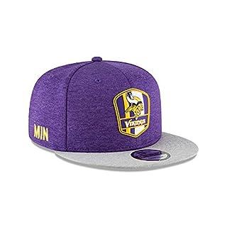 New Era NFL Minnesota Vikings Authentic 2018 Sideline 9FIFTY Snapback Road Cap, Größe :M/L