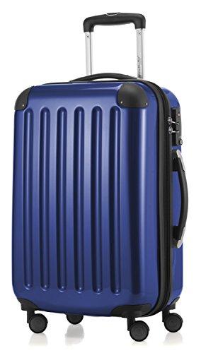 HAUPTSTADTKOFFER - Alex -  4 Doppel-Rollen Handgepäck Hartschalen-Koffer Trolley Rollkoffer Reisekoffer, TSA, 55 cm, 42 Liter, Dunkelblau