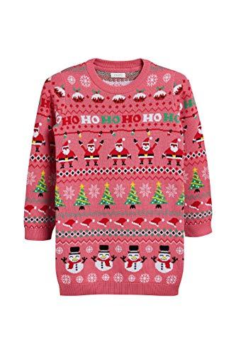 next Mädchen Weihnachtliches Pulloverkleid Rosa 9 Jahre