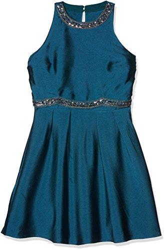 Little Mistress Damen Kleid Waist Detail Blau (Teal)