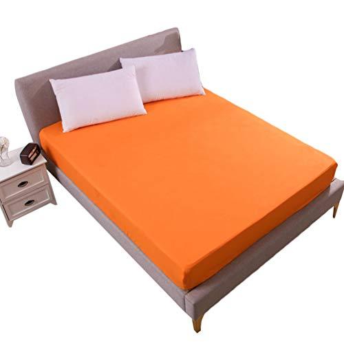 Matratzenschoner Wasserdichter Atmungsaktiv Anti-Allergisch Matratzenbezug Orange 180 * 200 * 30CM