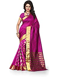 Pink Embellished Cotton Silk Half & Half Saree With Blouse Piece