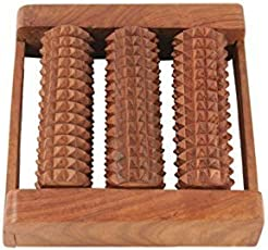 Online Quality Store Wooden Roller Foot Massager for Body Stress Acupressure Feet Care
