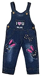 Camey Girls Wear High Quality Soft Applique Overall Jumper Pants Romper Playsuit Denim Dungaree (2-3 Years)
