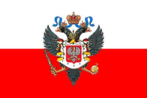 magFlags Flagge: Large Tsar of Congress Poland | Carskiego kongresu Polska | Querformat Fahne | 1.35m² | 90x150cm » Fahne 100% Made in Germany