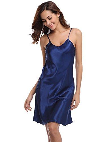 Aibrou Damen Sexy Negligee Nachthemd Satin Nachtkleid Nachtwäsche ...