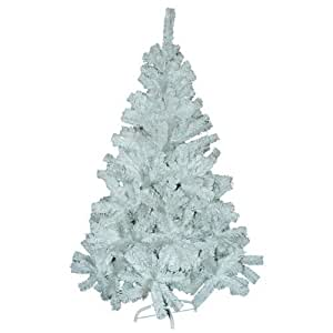 Large 6 Foot Artificial Pine Natural Look 480 Tip Fern White Home Christmas Tree