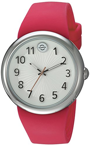 Philip Stein Unisex-Adult Analogue Japanese-Quartz Watch with Silicone Strap F36S-SW-HP