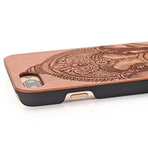 iPhone 7 Plus Hülle, iPhone 7 Plus Schutzhülle, Vandot Holz iPhone 7 Plus Schutzhülle Ultra Dünn Echtem Wood Hart Case Cover mit PC Hard Bumper Handytasche Retro Handmade Muster Patter Passgenaues Tel Design 8