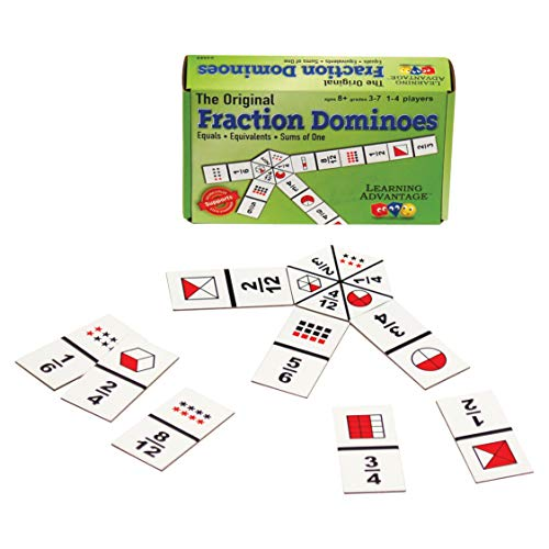 Learning Advantage 4080 The Original Fraction Dominoes Game, Grade: 3 to 7, 6.5\