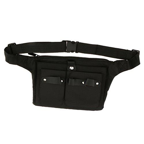 Sharplace Lienzo Cinturón Bolsa Contenedor de Tijeras Peine Cepillo Accesorios de Peluquerro Salón Negro