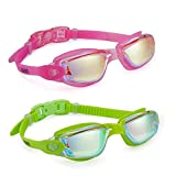 Aegend Swim Goggles, Pack of 2 Swimming Goggles Crystal Clear No Leaking Anti