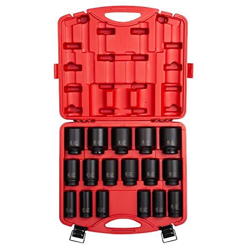 Dr. Deep Socket (Sunex 46853/4-Zoll Antrieb HEAVY DUTY SAE Deep Impact Socket Set, 17-teilig)