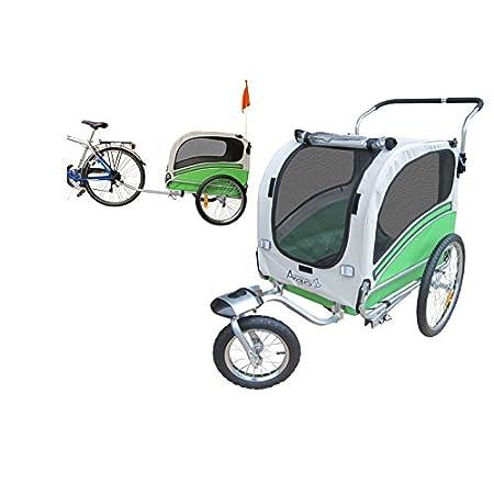 Fahrradanhänger Polironeshop Argo, Anhänger und Wagen für den Transport von Hunden, grün, Medium