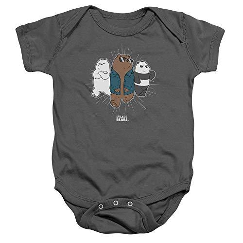 We Bare Bears - - Veste Tout-Petit Onesie, 12 Months, Charcoal
