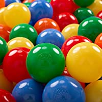 KiddyMoon Bolas Colores Para Piscina Plástico Niños Infantil ∅ 7Cm Fabricado UE