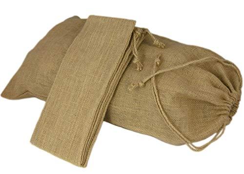 2 x Jutesack groß, Jute-Beutel, Nikolaus-Säckchen, Ideale Verpackung -