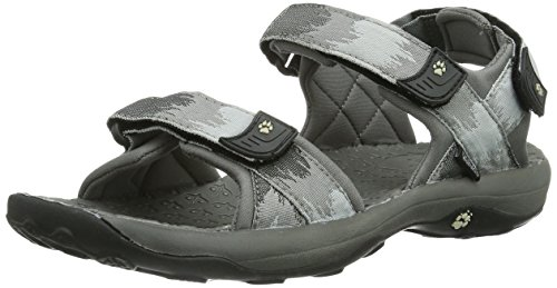 Jack Wolfskin ENSENADA MEN 4009441-6720120 Herren Sandalen, Grau (silver grey), EU 47 (UK 12) (US 13)