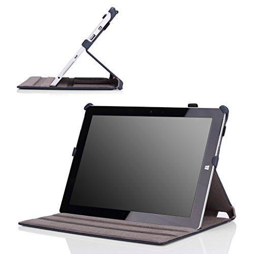 MoKo Microsoft Surface 3 Hülle - Slim-Fit Multi-Winkel Kunstleder Tasche Smart Cover mit Standfunktion für Surface 3 10.8