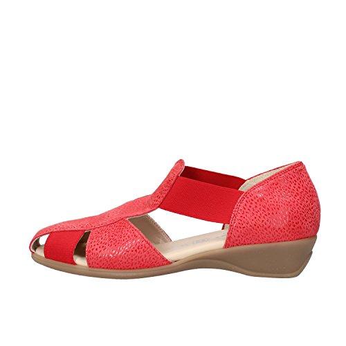 SUSIMODA sandali donna 37 EU rosso camoscio tessuto AG967