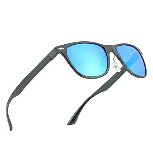 CGID GD58 Lunettes de soleil polarisées UV400 style en alliage Al-Mg, lunettes de soleil pour hommes
