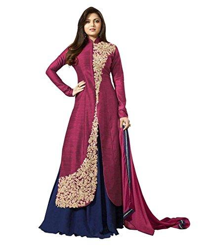 C&H Pink Banglory Designer Semi-Stitched Salwar Suits
