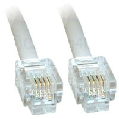 World of Data Câble ADSL RJ11 haute qualité 100% cuivre avec connecteurs en Plaqué de World of Data®