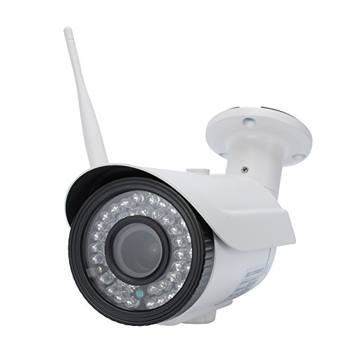 IdeaNext HD 1080P H.264 Wireless WiFi IP Camera 4X Optical Zoom Indoor/Outdoor Home Security Surveillance with P2P Infrared Night Vision Motion Detector IP66-Waterproof