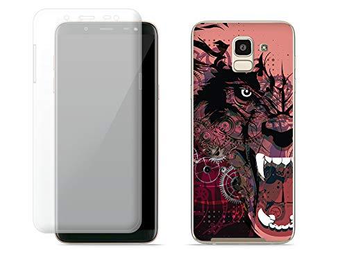etuo Samsung Galaxy J6 - Hülle Full Body Slim Fantastic - Werwolf - Handyhülle Schutzhülle Etui Case Cover Tasche für Handy