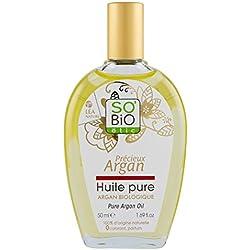 So' Bio étic Olio Pure 100% Argan Bio 50ml–Set di 2