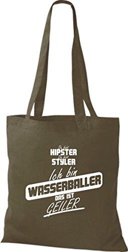 Borsa Di Stoffa Shirtstown Sei Hipster Sei Styler Io Sono Pallanuoto Questo È Olivastro