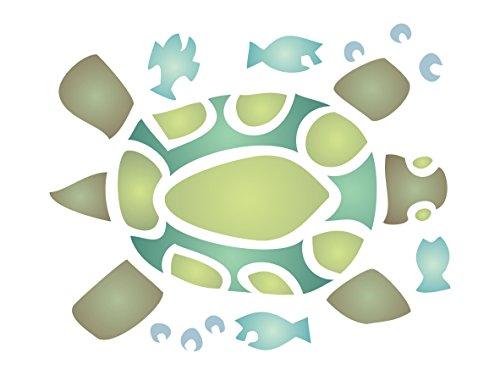 Schildkröte Schablone-11,5x 14cm-wiederverwendbar African Animal Wildlife Schablonen für Malerei-zur Verwendung auf Papier Projekte Scrapbook Tagebuch Wände Böden Stoff Möbel Glas Holz usw. -