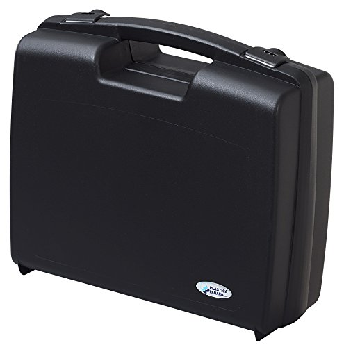 Kunststoffkoffer leer in schwarz, Außenmaß: 320x280x119 mm