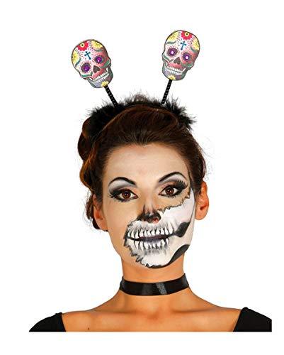Horror-Shop Witziger Bella Muerte Halloween Kopfschmuck Day of The - Bella Muerte Kostüm