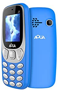 Aqua J3 - 1.8 Inch Display Dual SIM Basic Keypad Mobile Phone with 800 mAh Battery and vibration feature- Blue