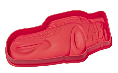 Disney CARS 20573 Backform, Silikon, rot, 28 X 12.5 X 3.5 cm