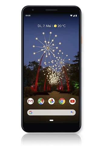 google pixel 3a xl 64 gb smartphone android 9.0 (3a xl, bianco - clearly white)