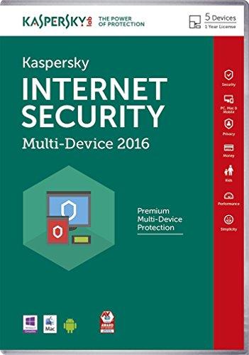 Kaspersky Lab Internet Security – Multi-Device 2016 Base license 5utente(i) 1anno/i Inglese