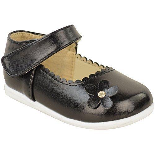 Fashion Thirsty Filles Babies Enfants Baptême Mariage Fleur Bracelet Velcro Chaussures De Soirée Taille