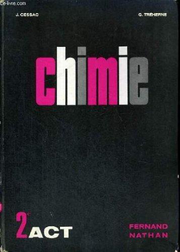 Chimie classe de seconde act - programme 1966
